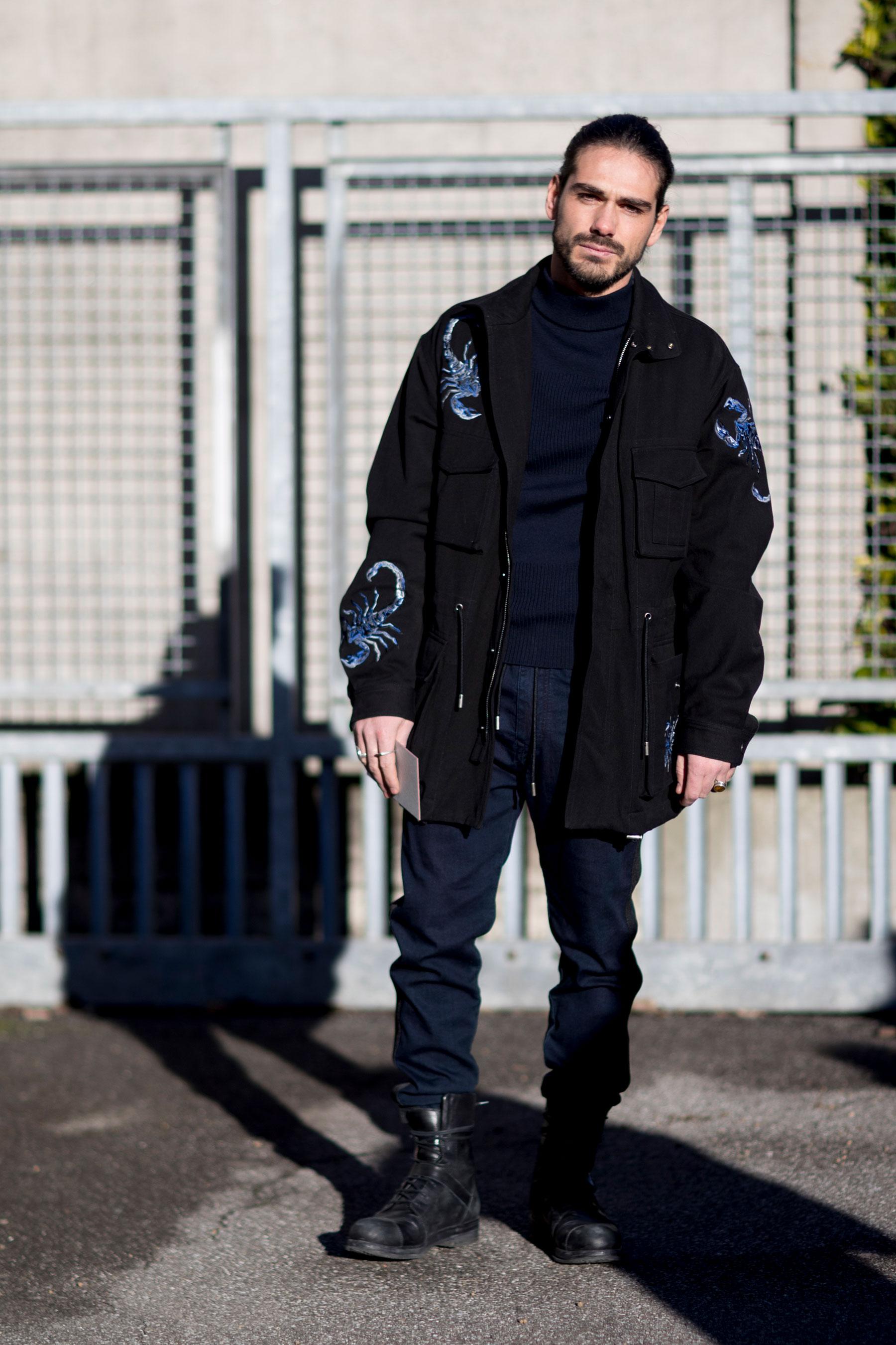 Мужская куртка с рисунком 2018