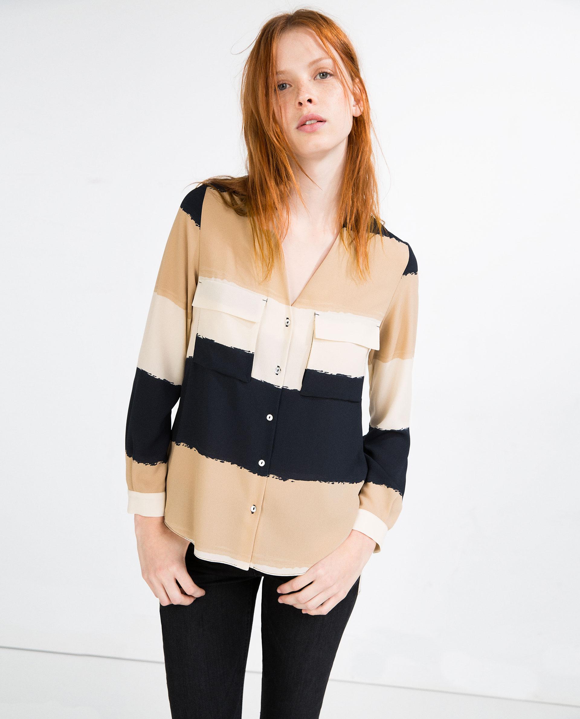 Блузка шифоновая с рукавом
