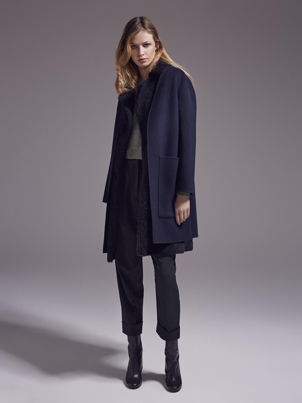 Модное синее пальто 2018