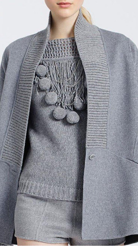 Серый трикотажный кардиган