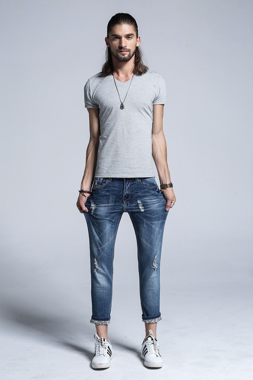 Мужские узкие джинсы 2018