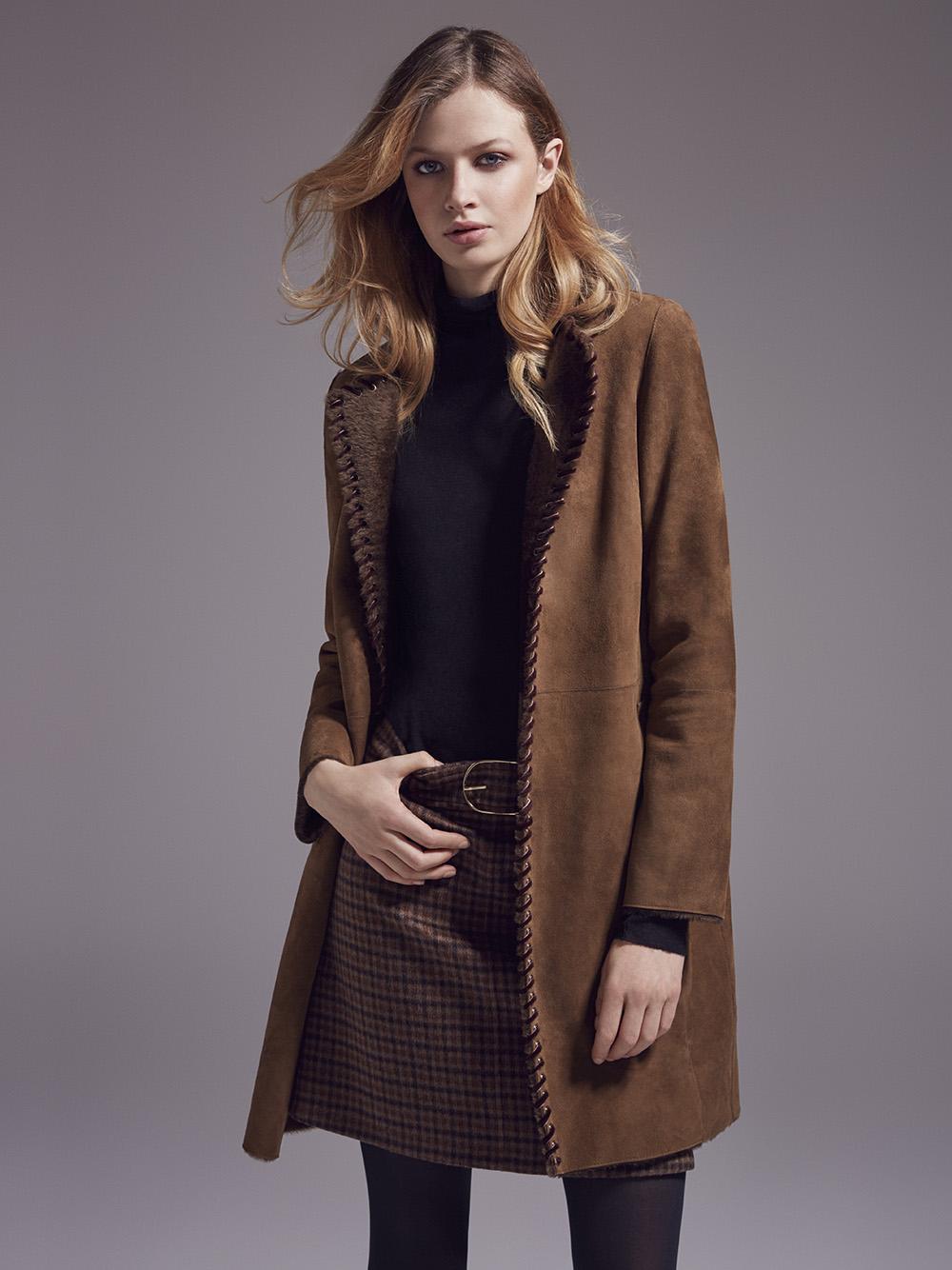 Замшевое пальто 2018