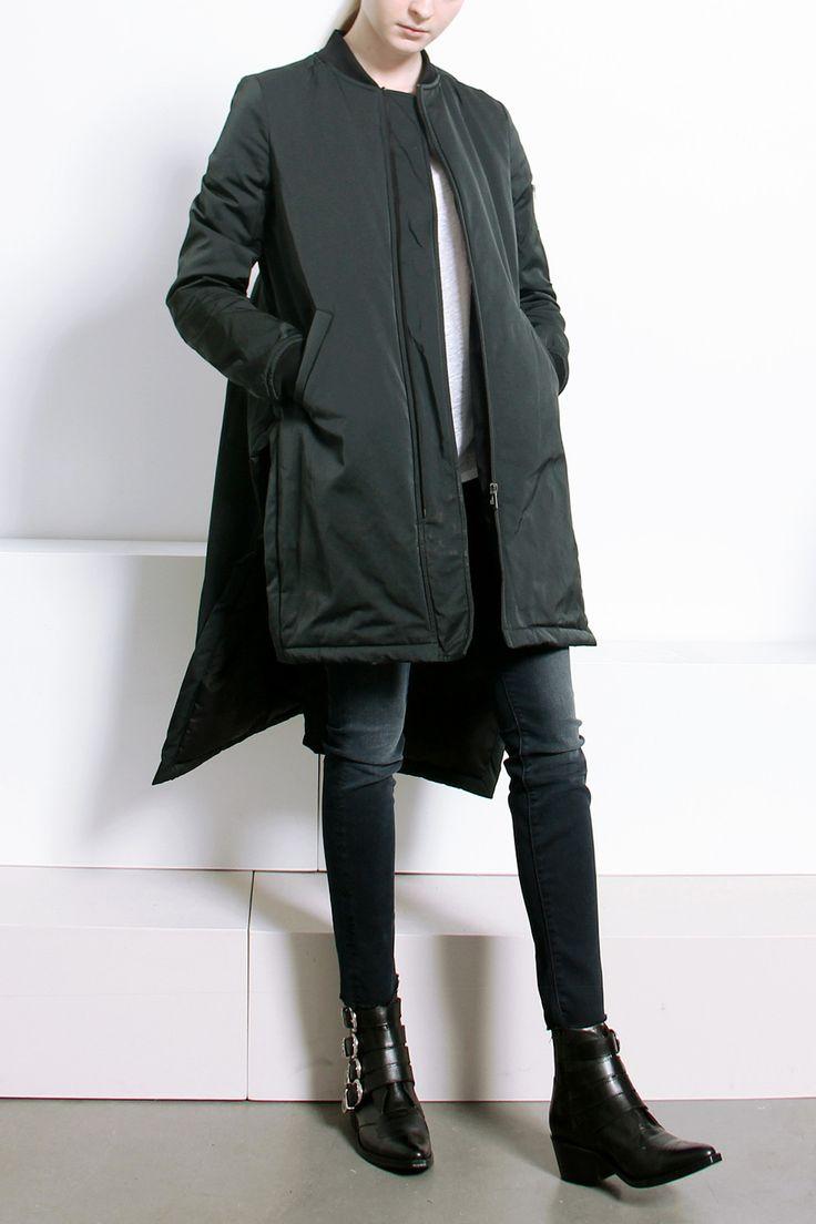 Длинная асимметричная куртка