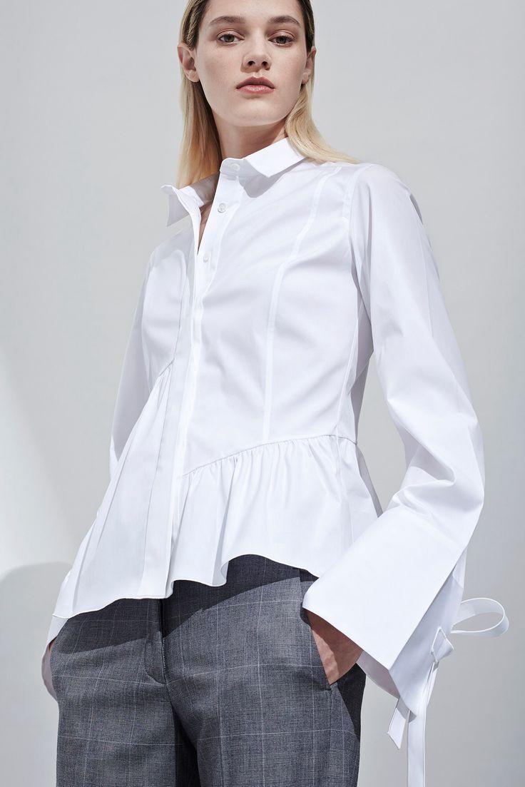Белая Рубашка Женская Шелковая с Цветами 504b76d096d55