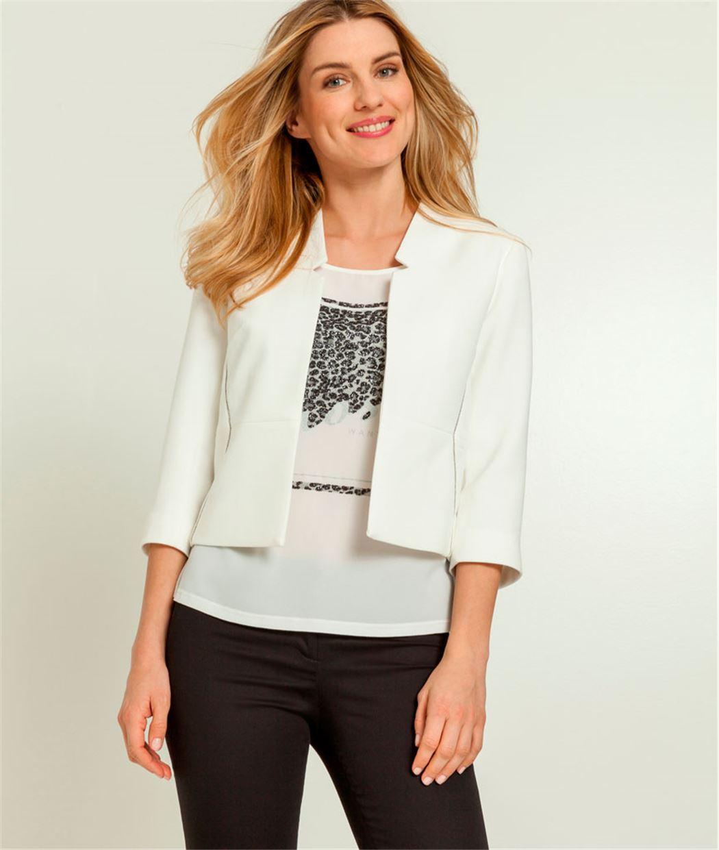 Короткий белый пиджак