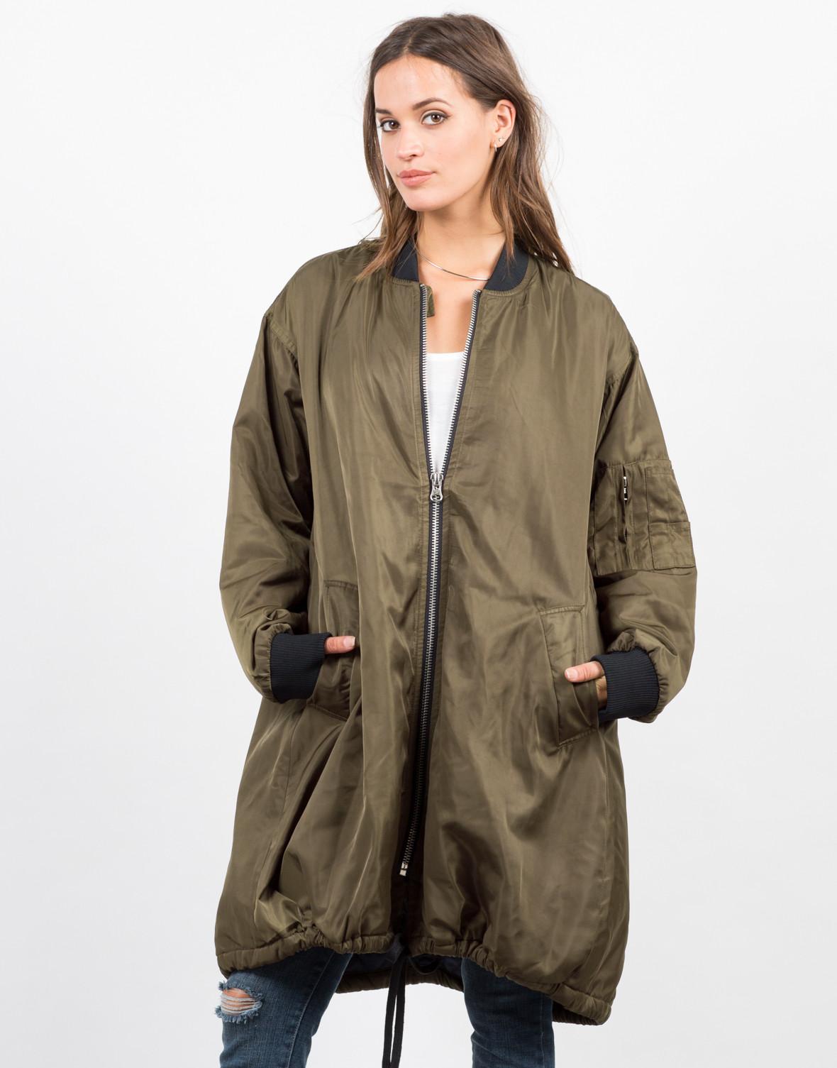 Длинная куртка бомбер