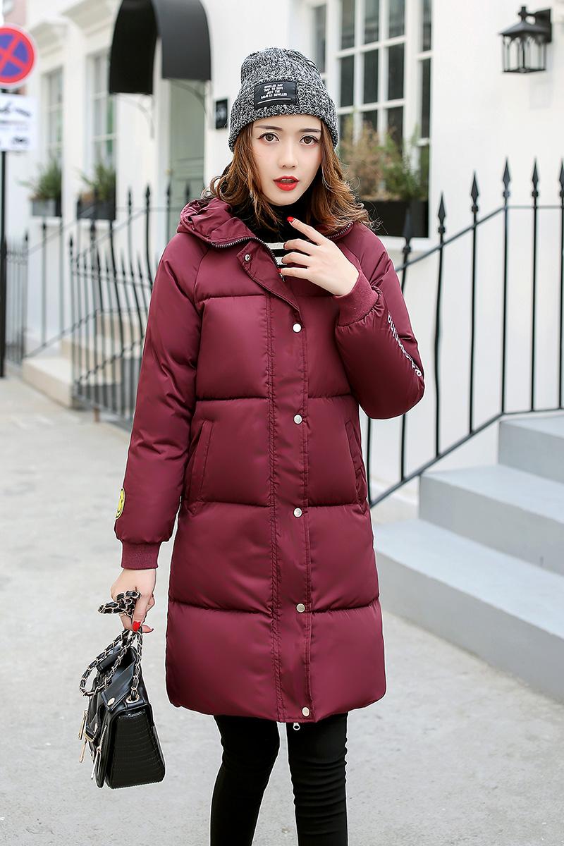 Бордовая длинная куртка