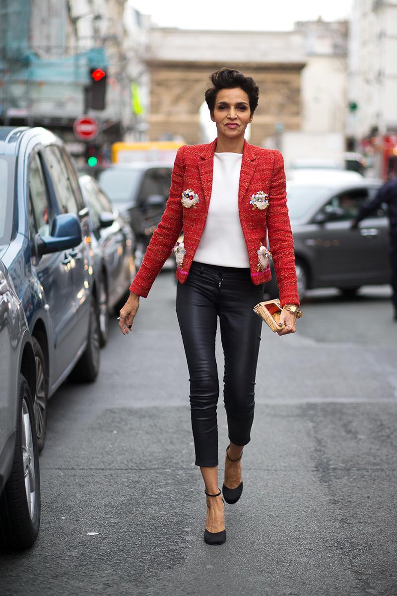 Красный пиджак букле
