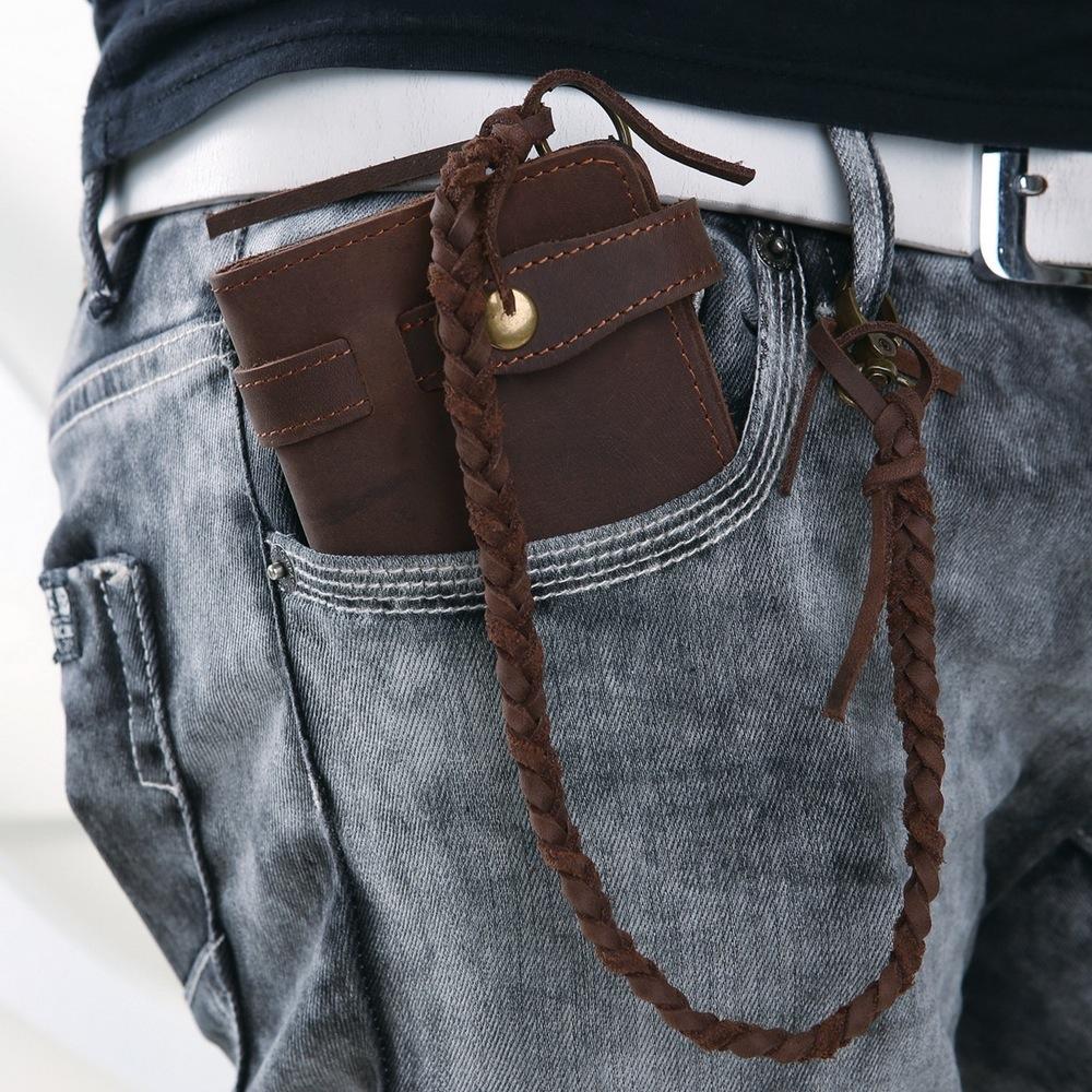 Мужской кошелек на цепочке