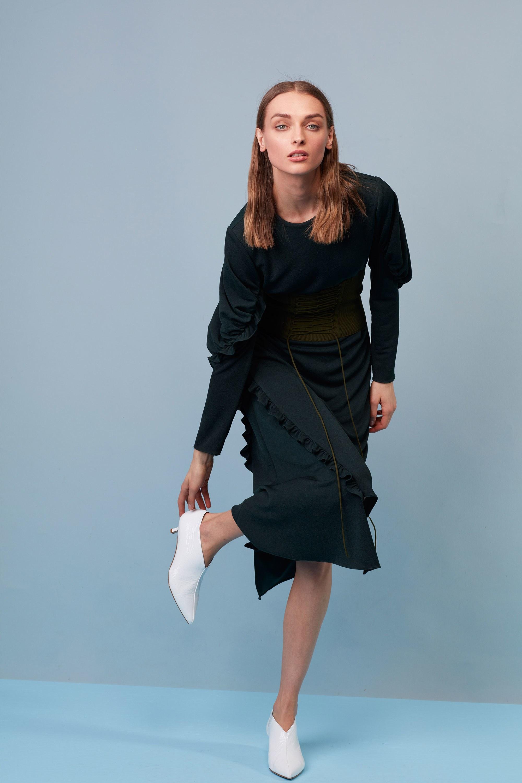 Офисная блузка черная