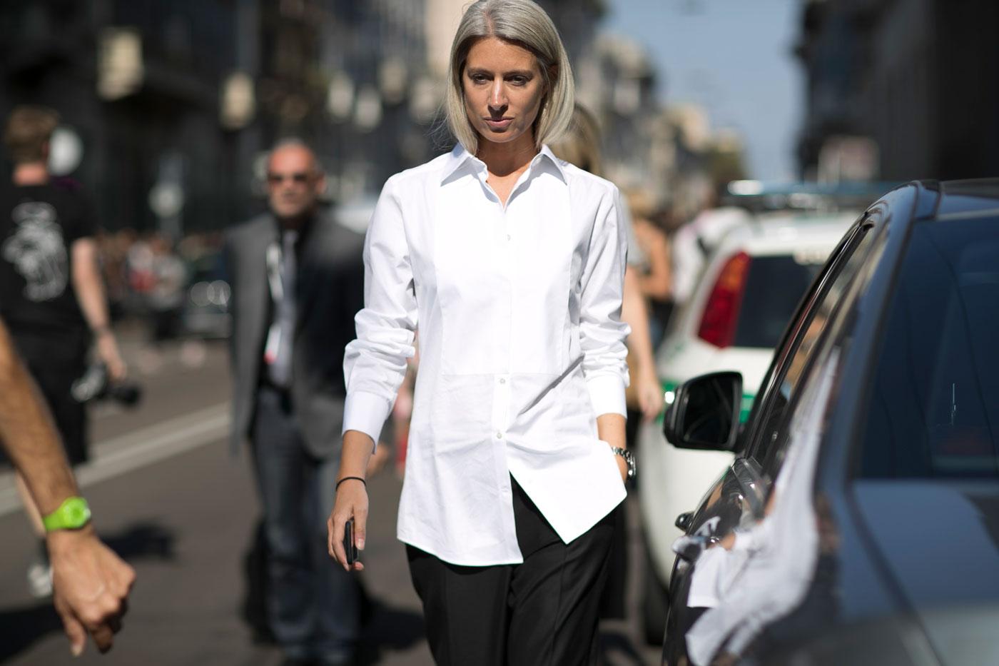 Женская белая рубашка классическая