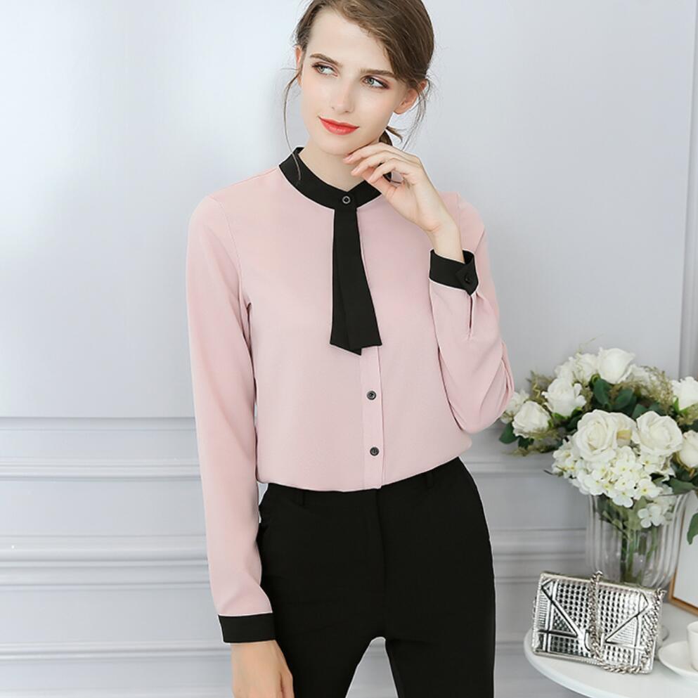 Классическая блузка с воротником