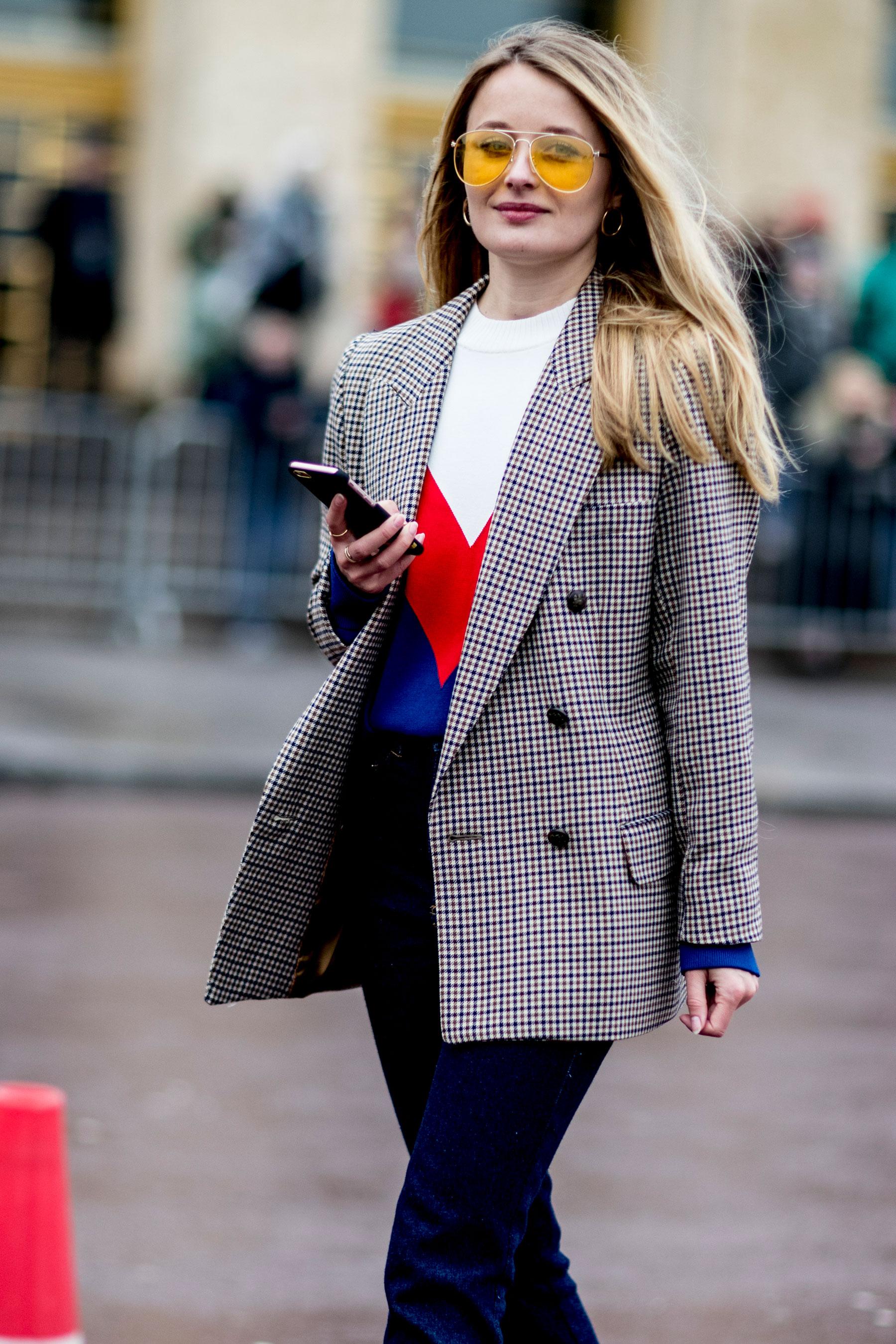 Цветной удлиненный пиджак