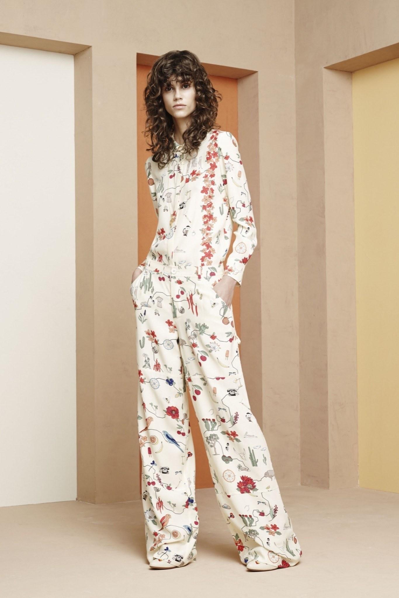 Женские широкие брюки с цветочным принтом