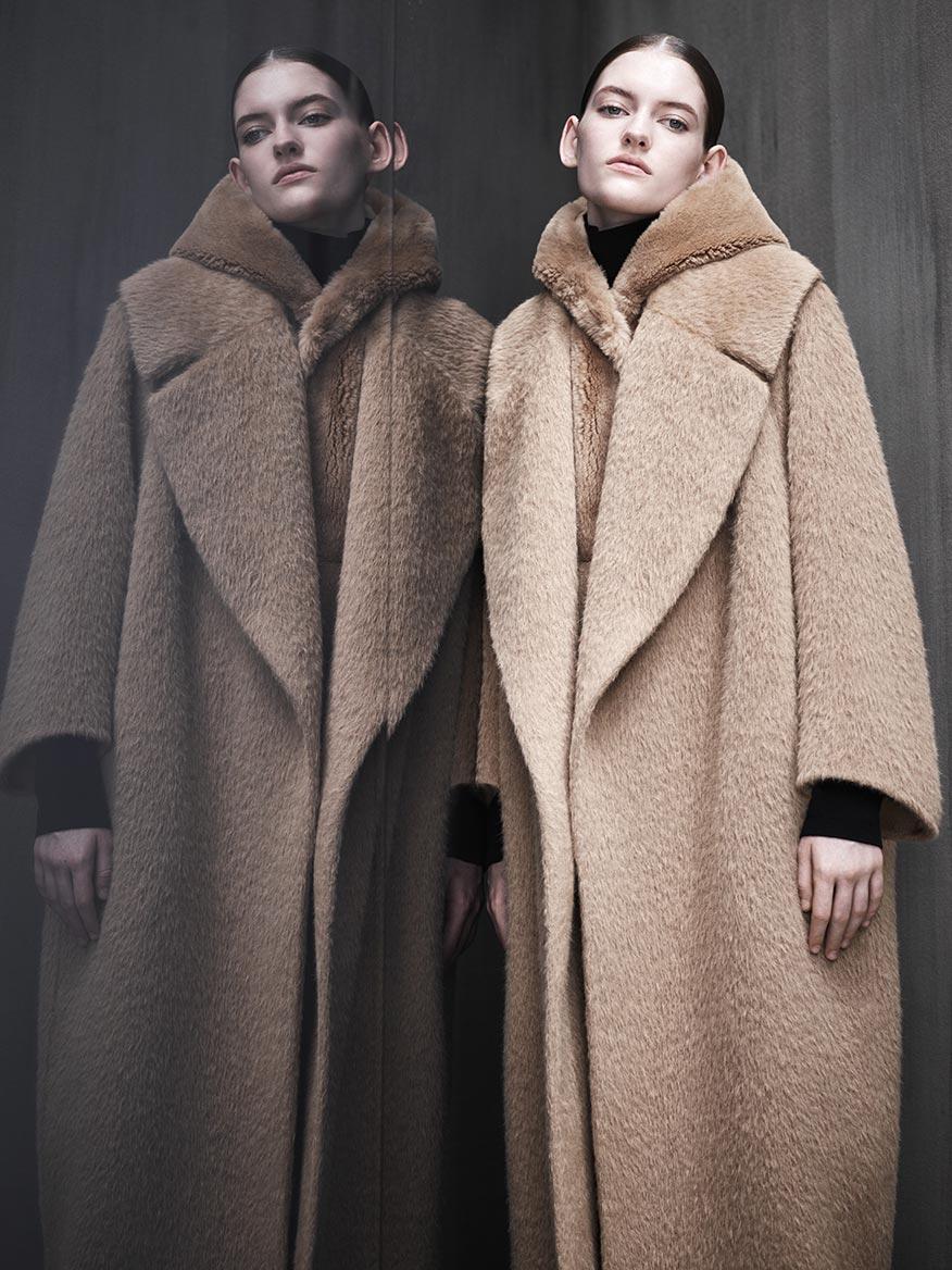 Длинное пальто из альпаки