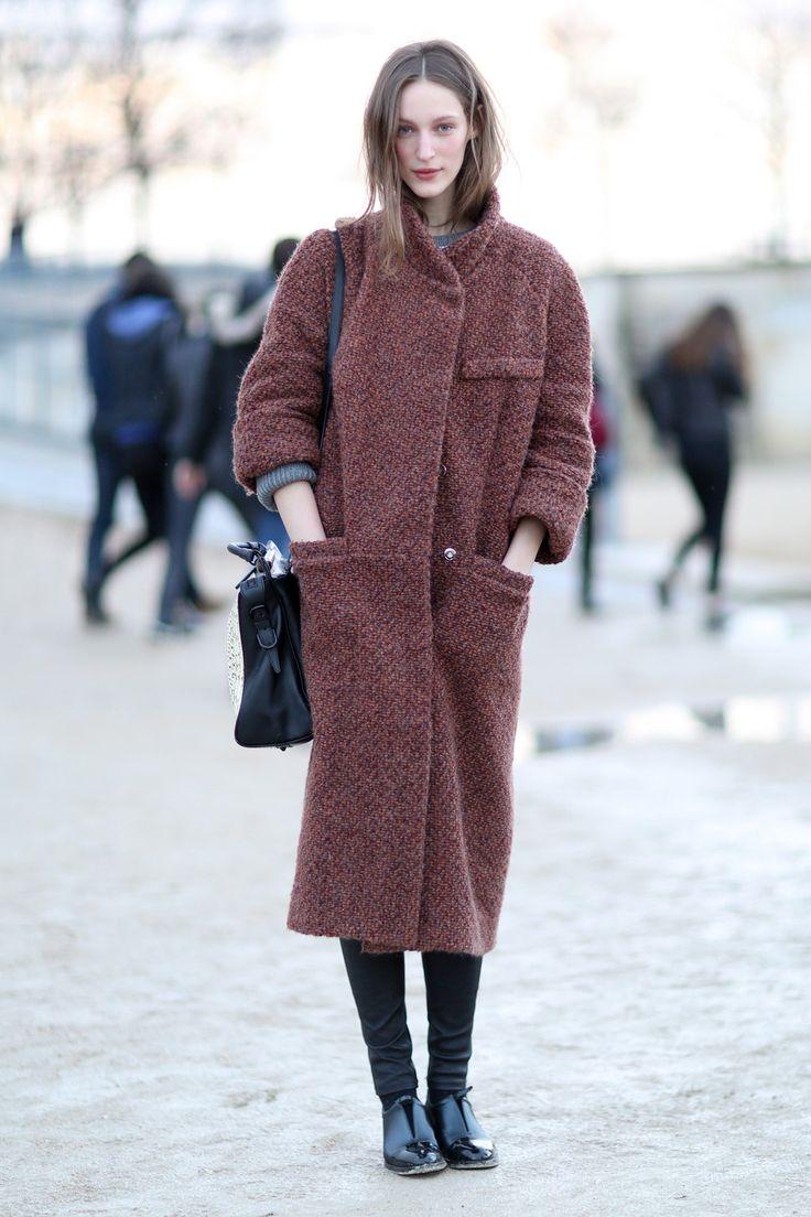 Пальто кокон из альпаки