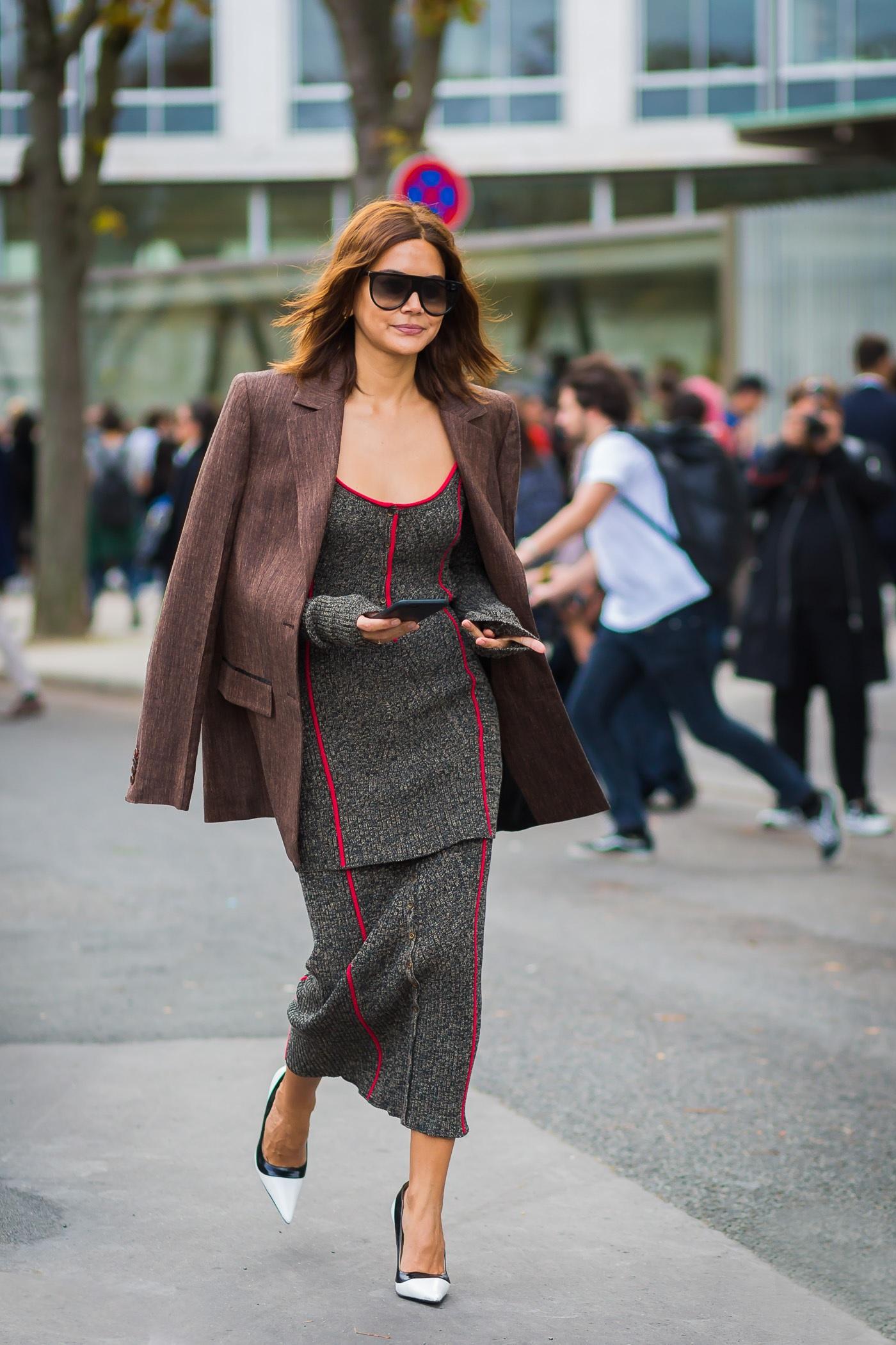 Коричневый удлиненный пиджак