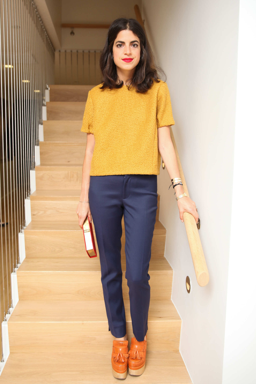 Желтая блузка с коротким рукавом