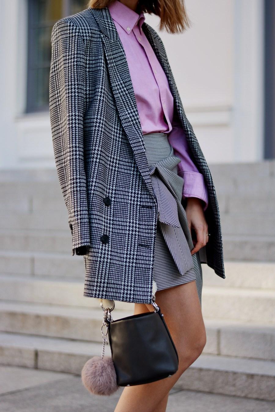 Удлиненный пиджак гусиная лапка