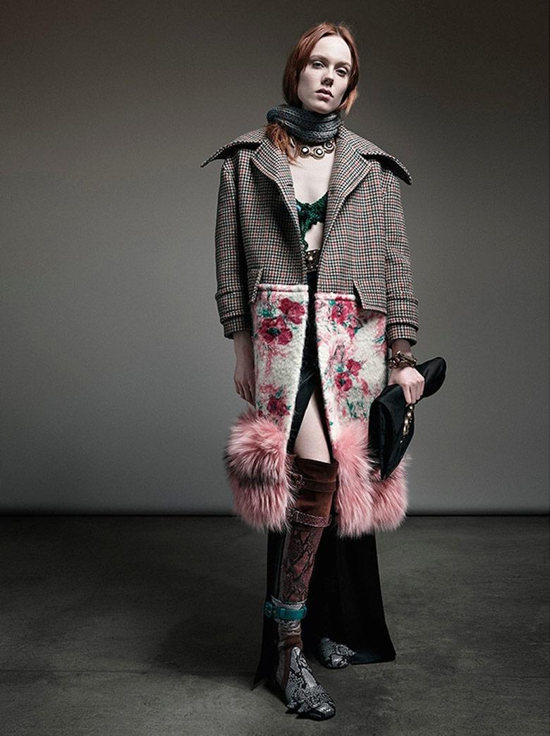Пальто оверсайз с мехом