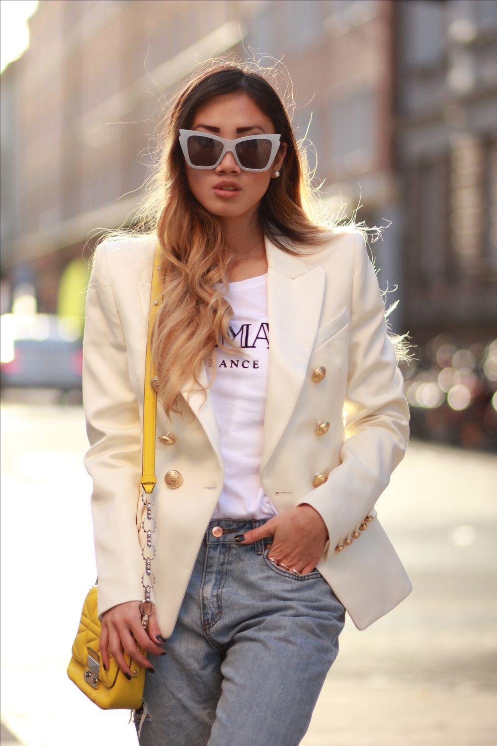 Белый пиджак милитари