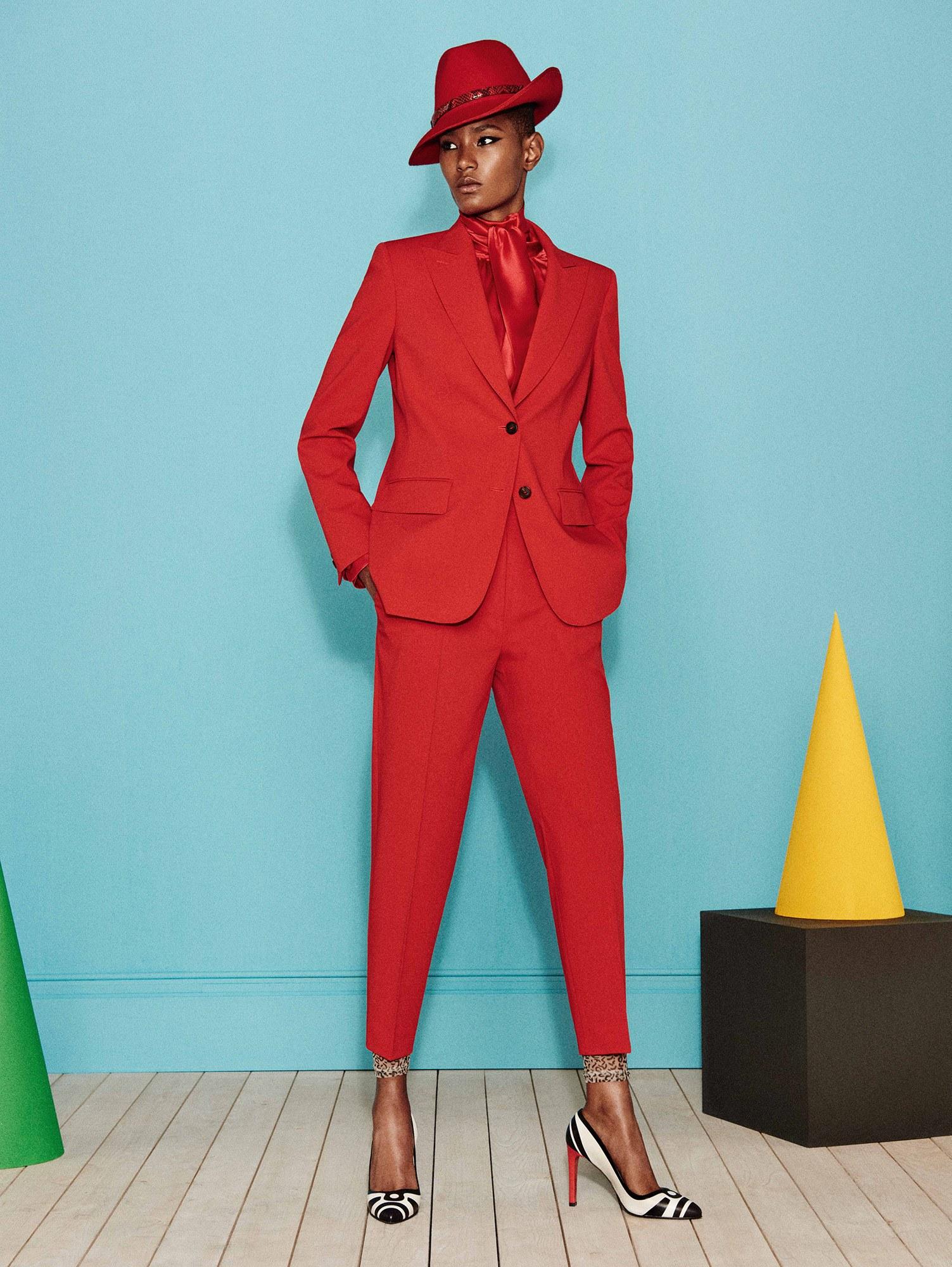 Красный пиджак однобортный