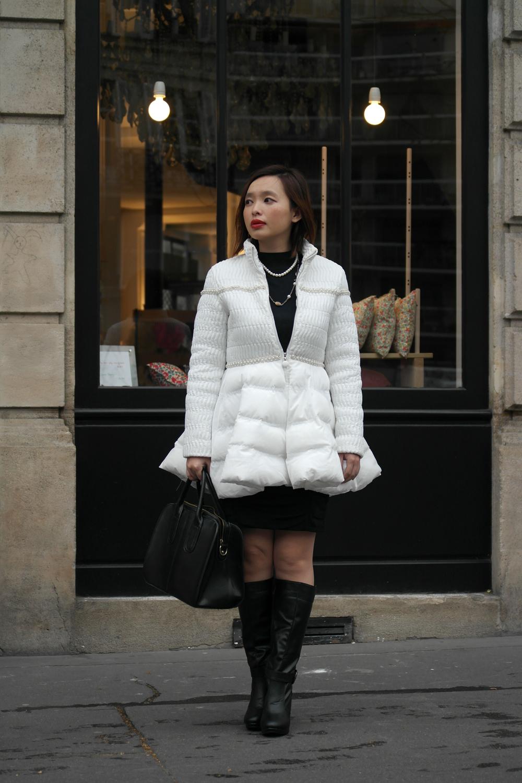 Белая куртка пальто