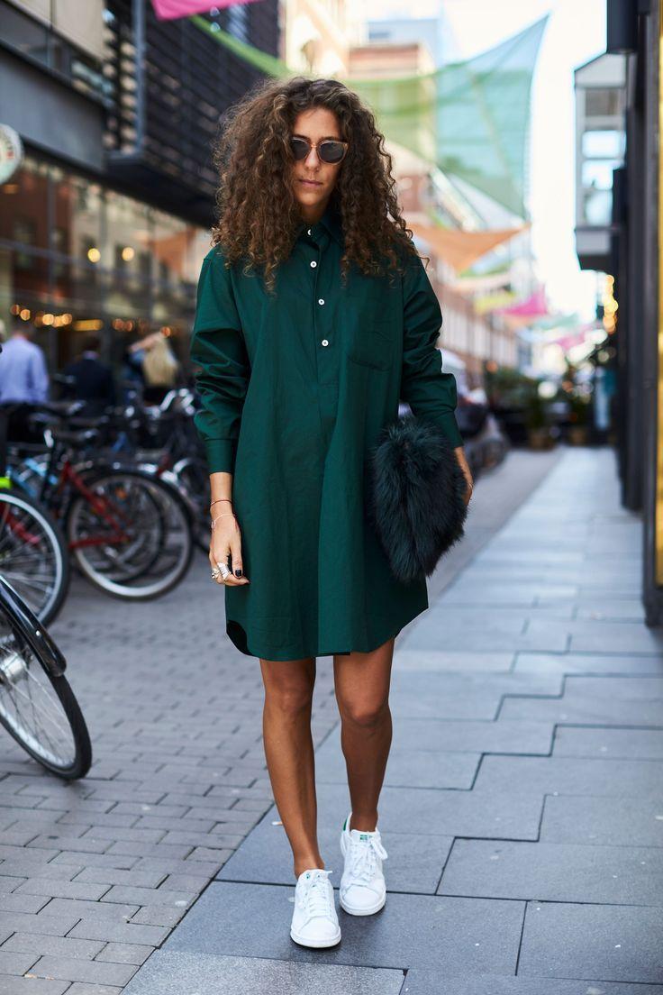Зеленая блузка платье