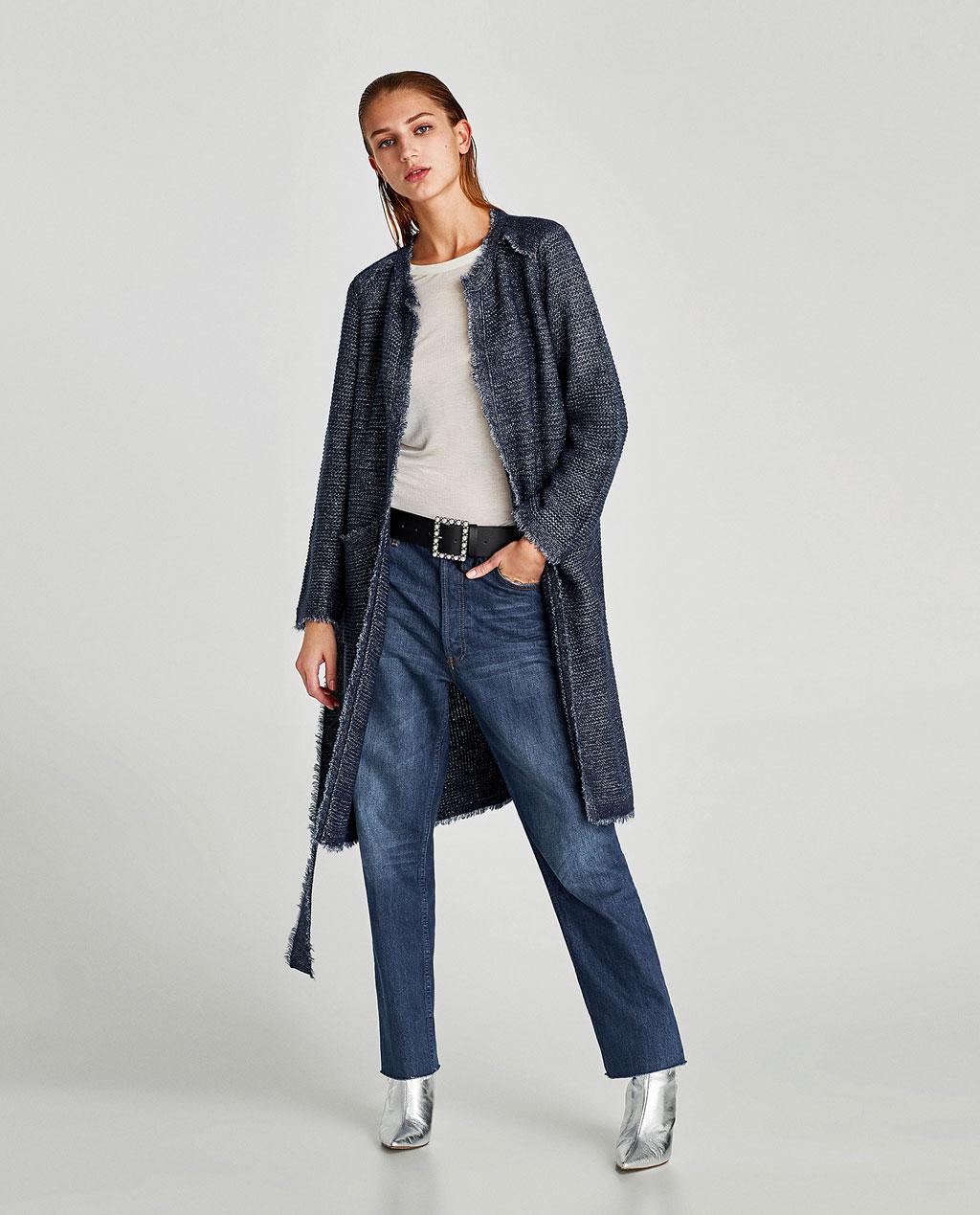 Пальто под джинсу