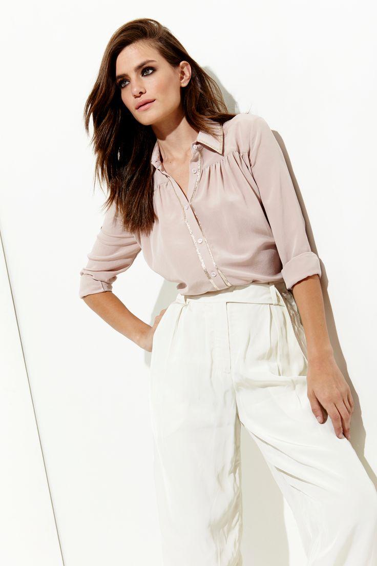 Офисная блузка розовая