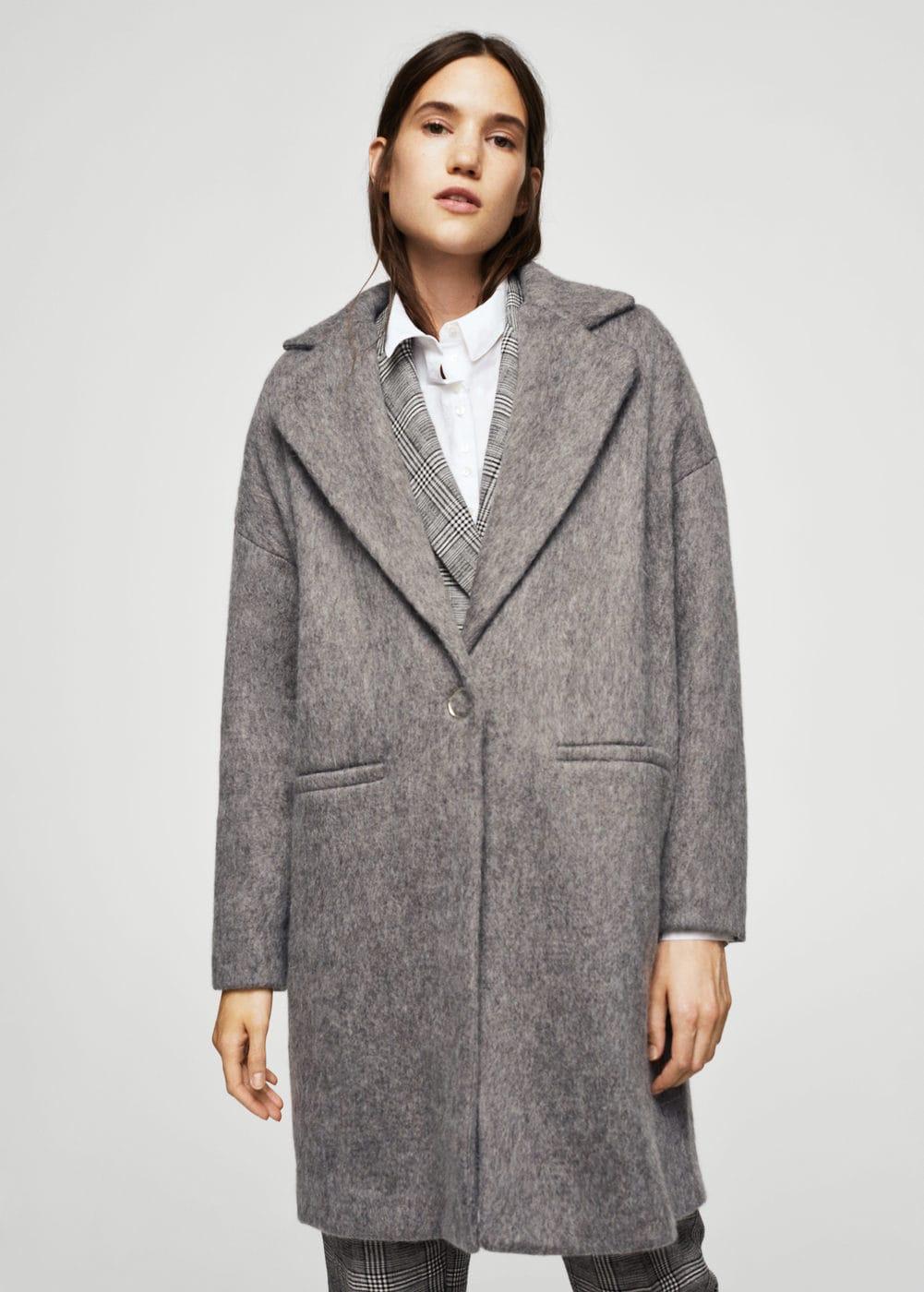 Пальто оверсайз шерстяное