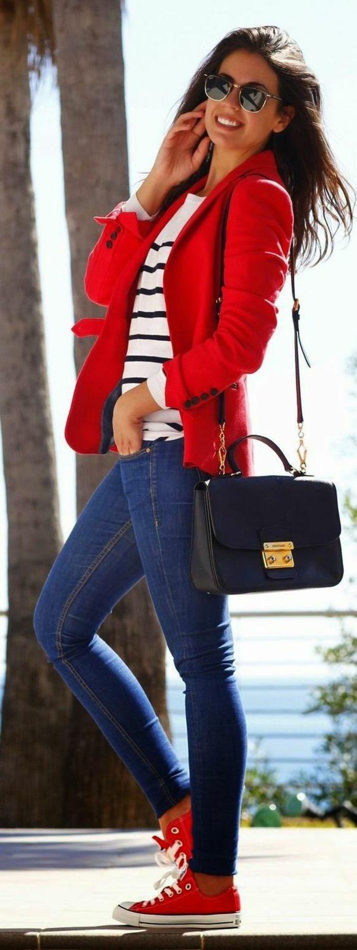 Красный пиджак шерстяной