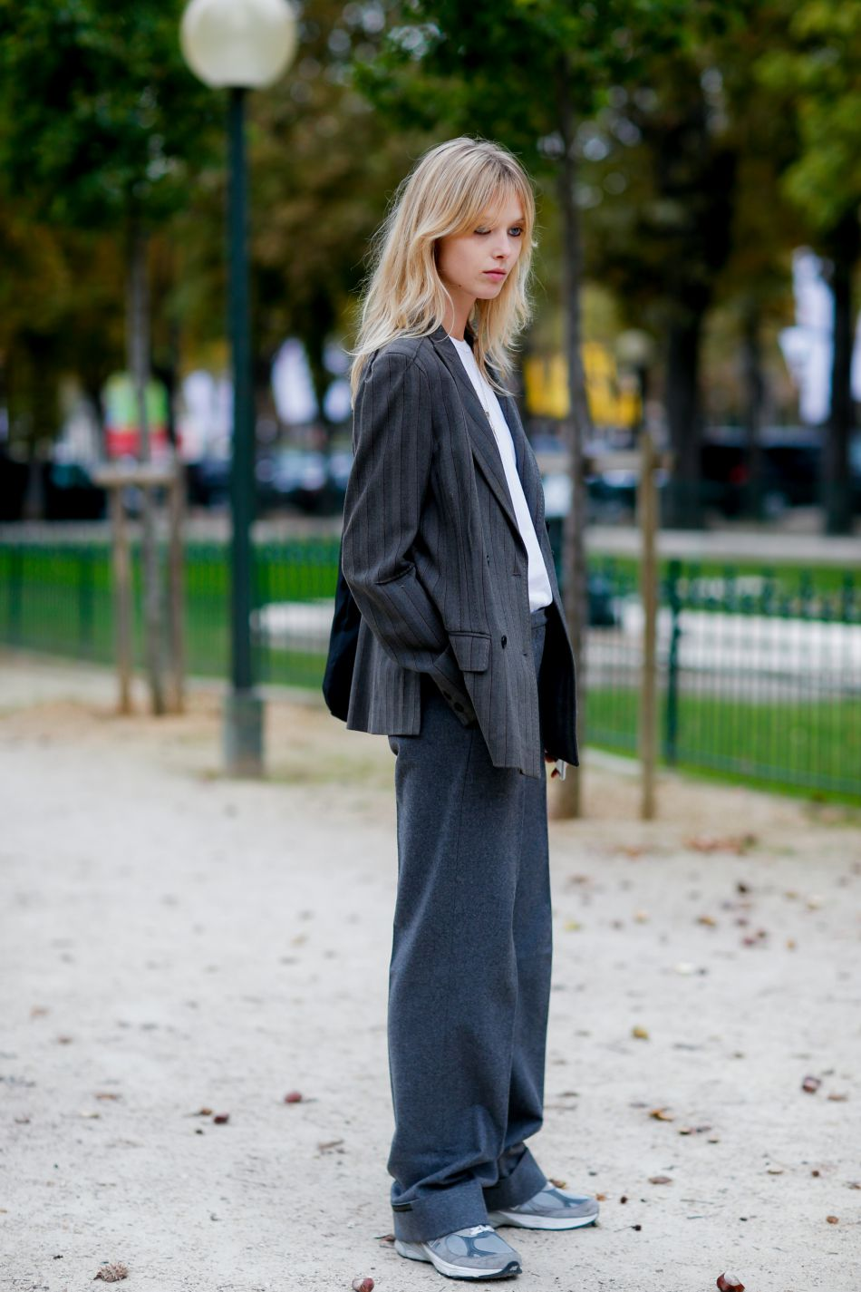 Женские широкие брюки из трикотажа