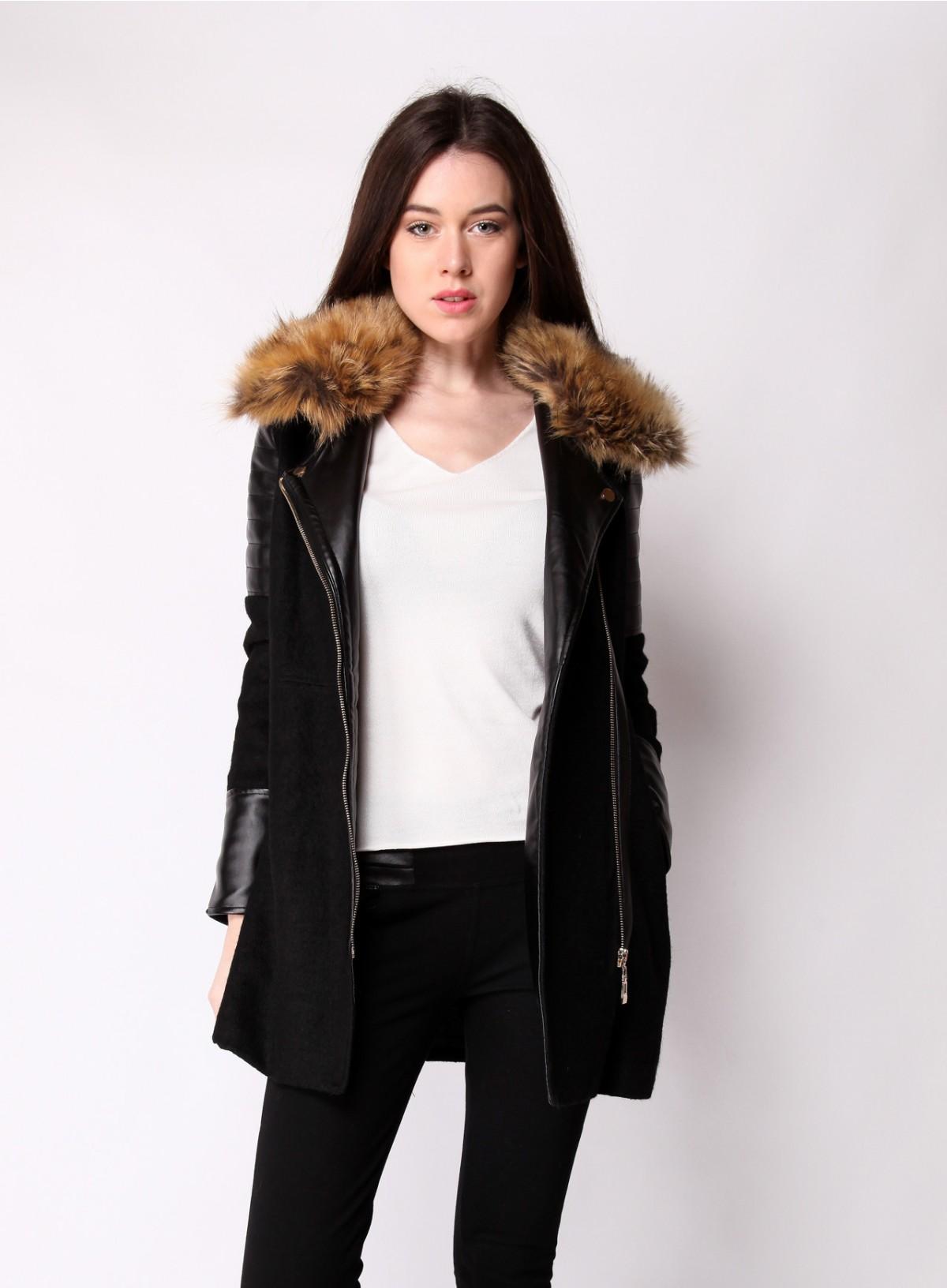 Куртка с мехом на воротнике