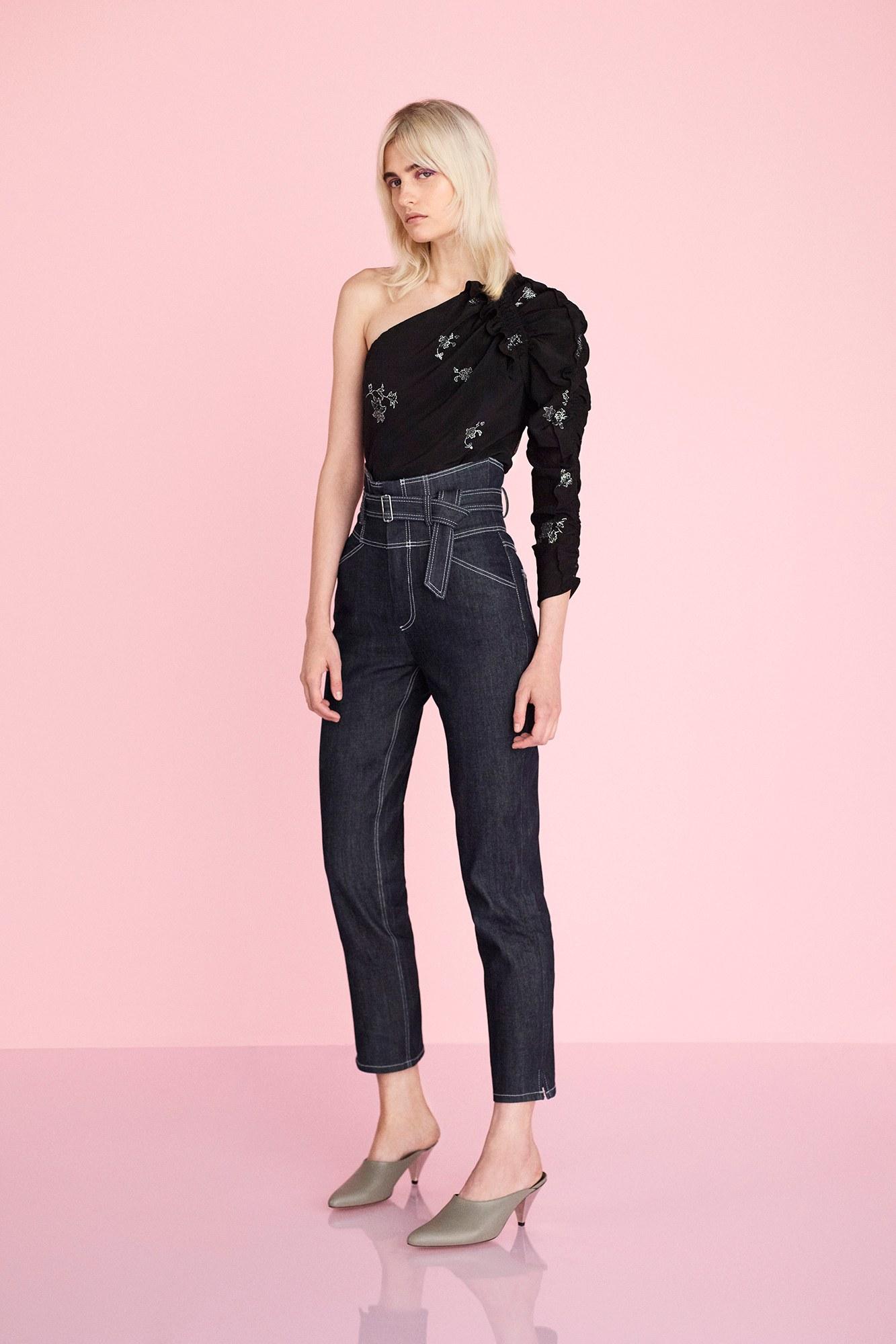 6d9bde1ea8b Черные джинсы с завышенной талией