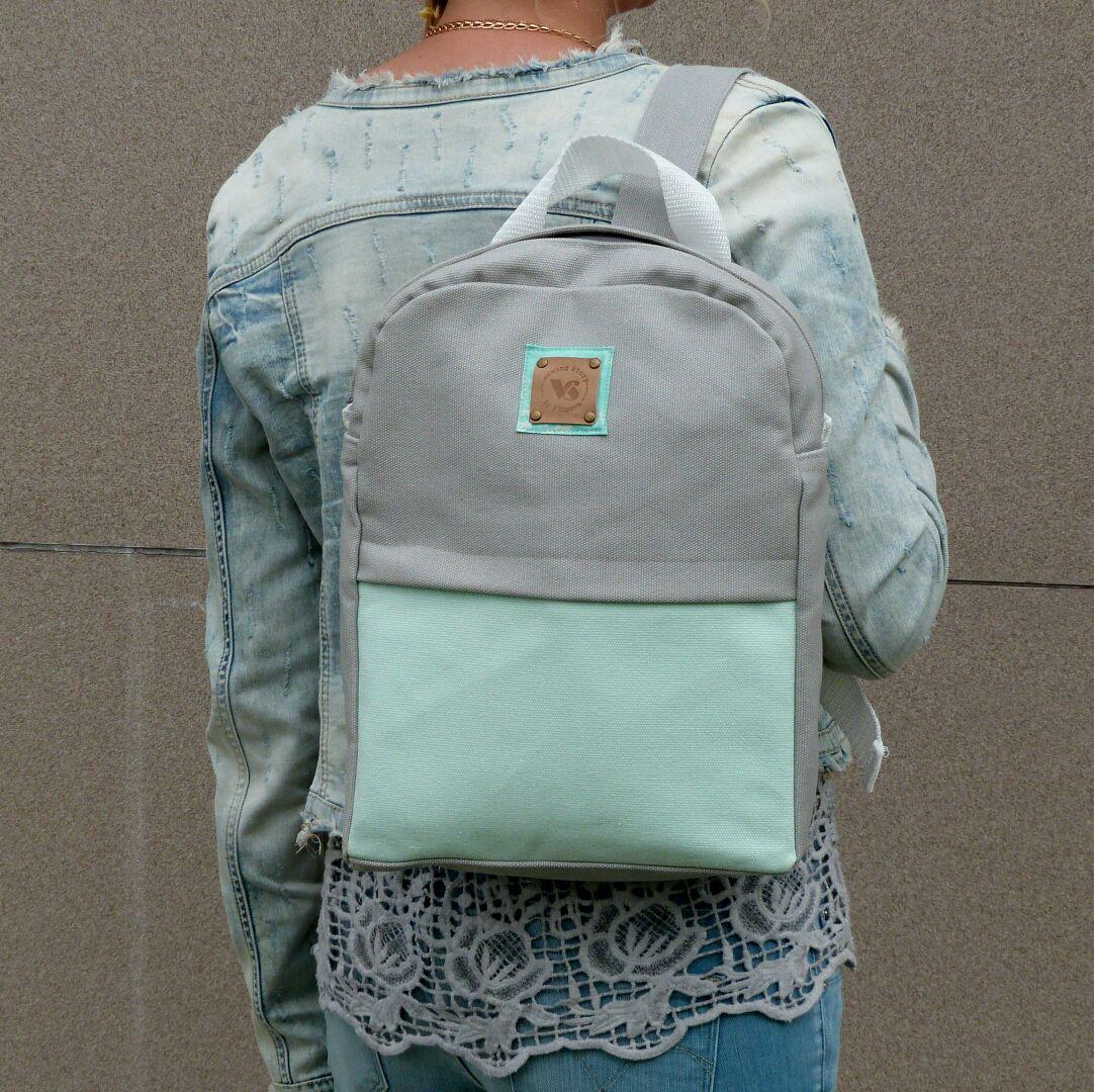 Серо-бирюзовый рюкзак