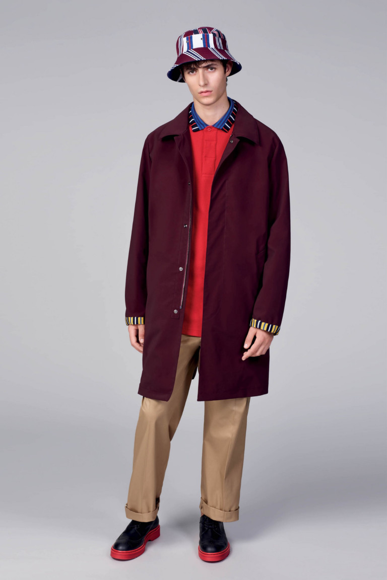 Бордовое пальто Tommy Hilfiger