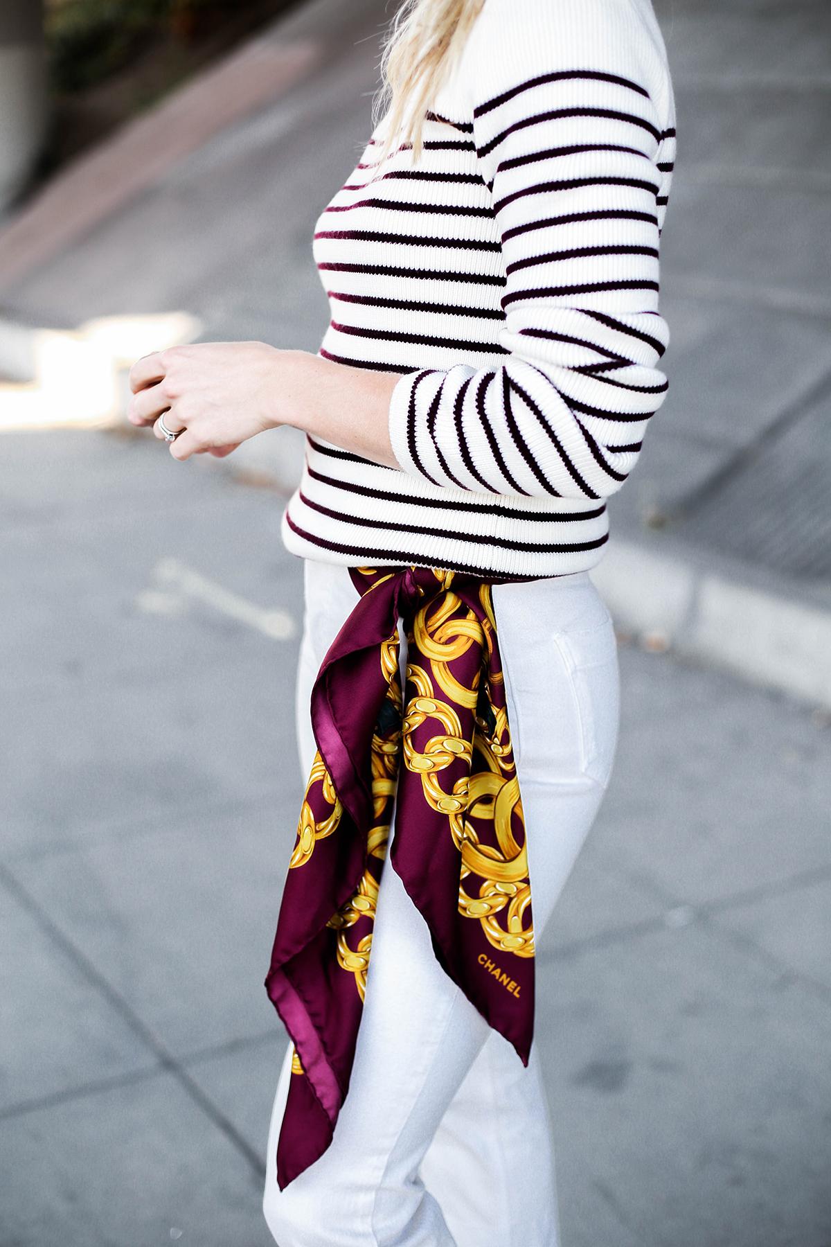 Шелковый шарф Chanel