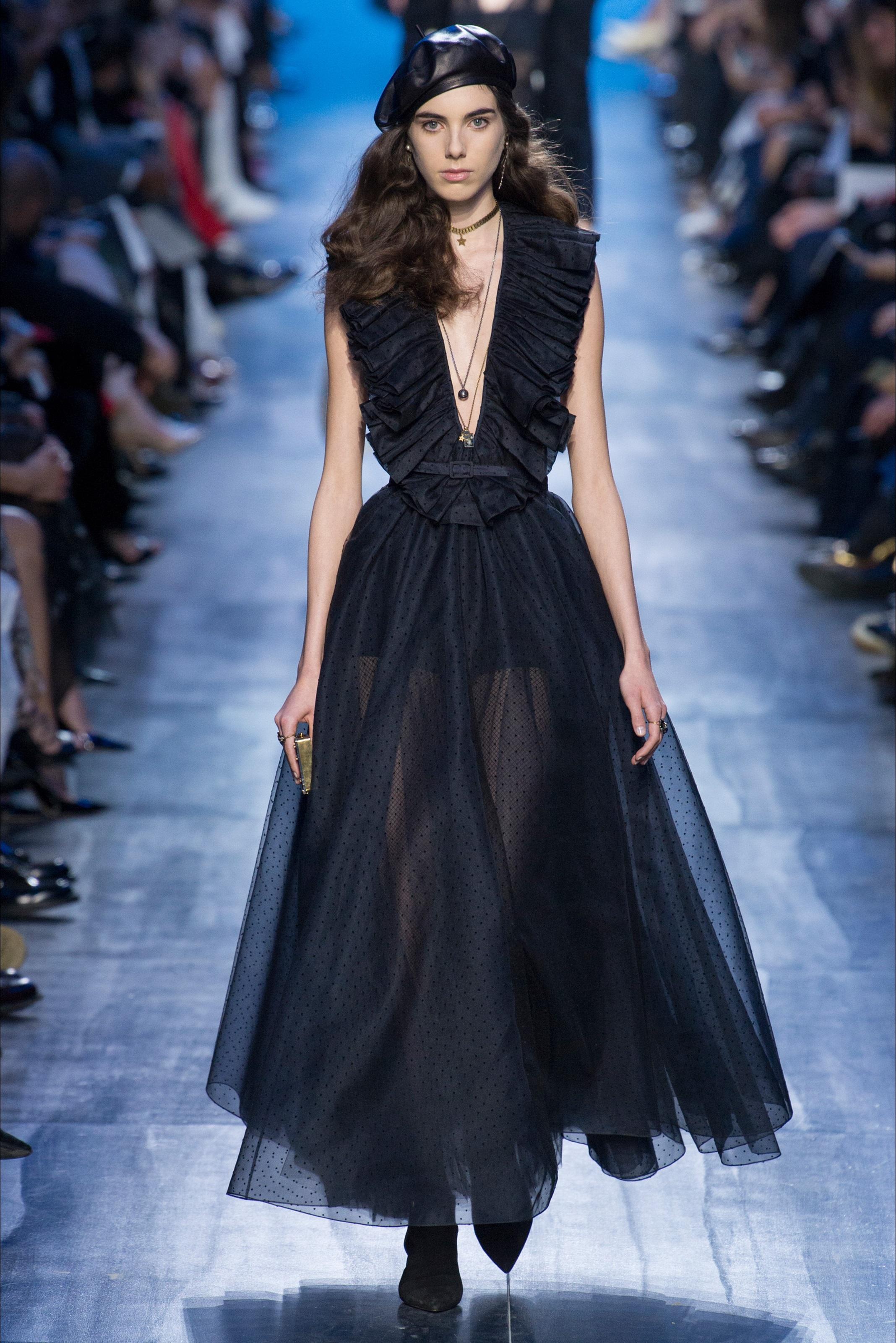 Черное платье dior 2017
