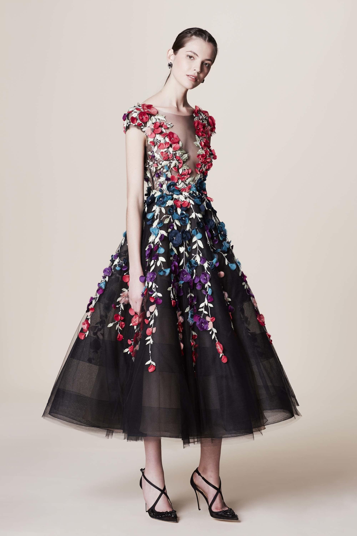 Платье на новый год 2018 с цветами