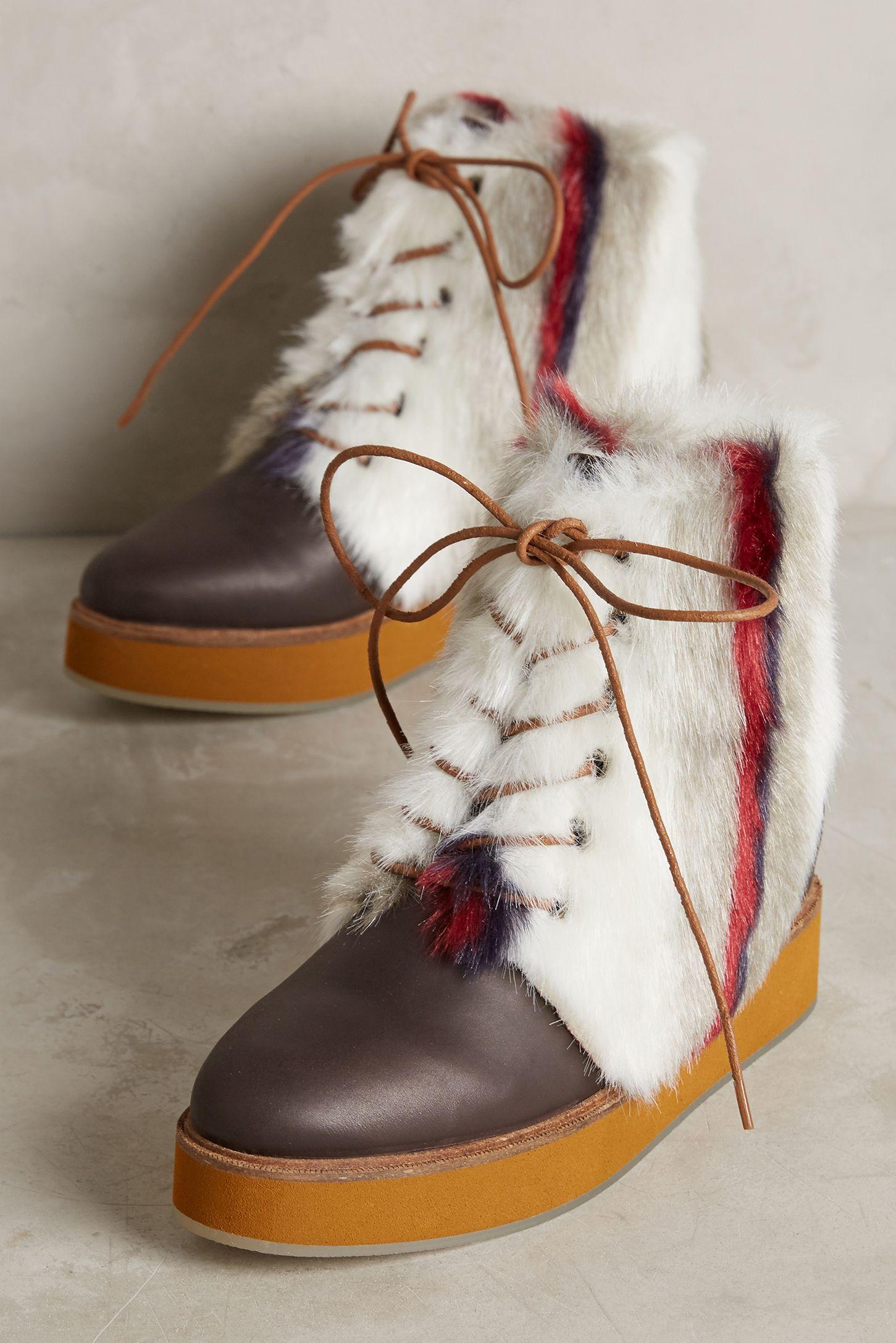 Ботинки с меховым декором