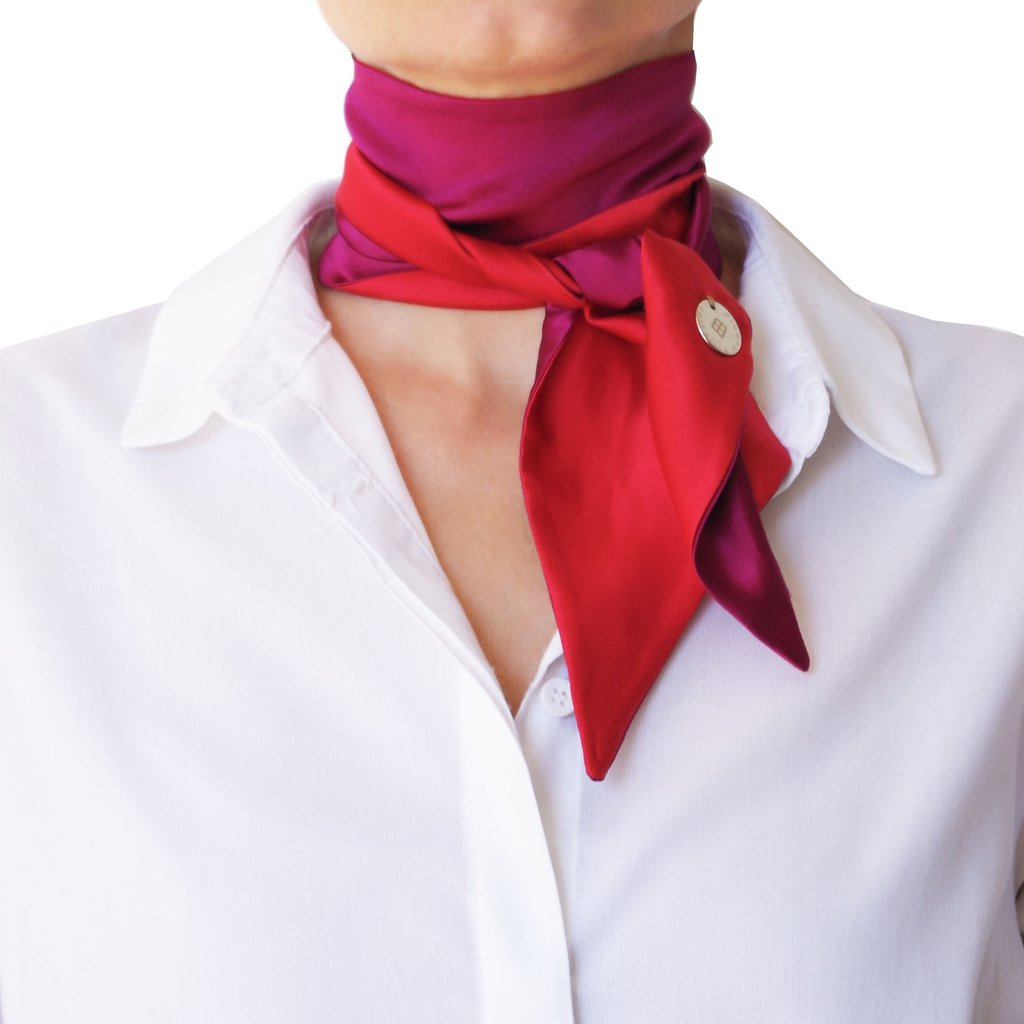 Шелковый шарф двойной