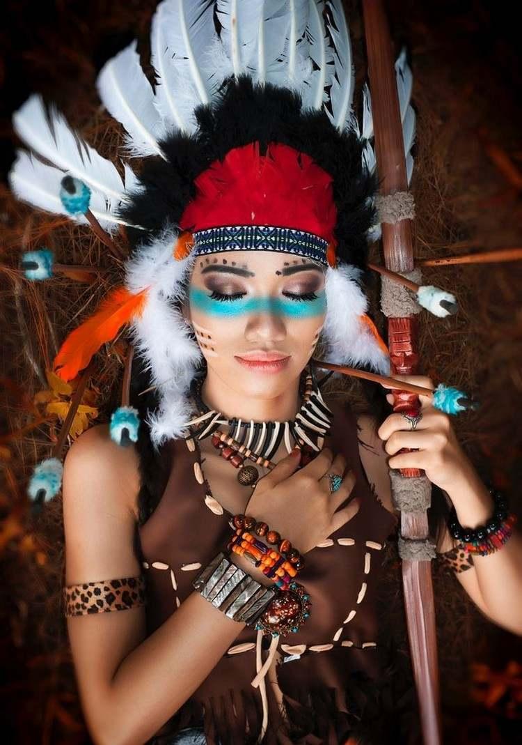 Новогодний костюм индейский