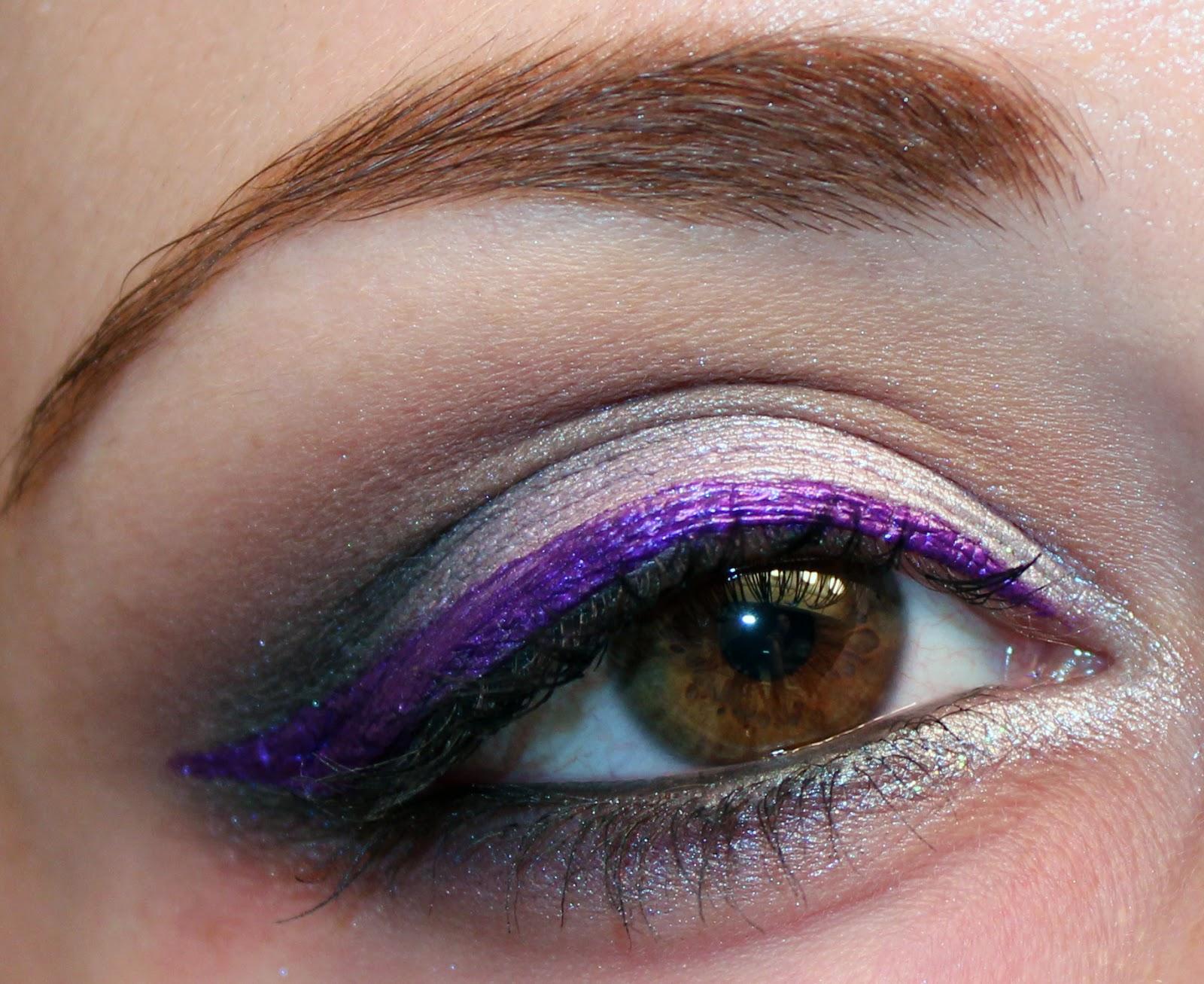 Фиолетовый макияж на новый год 2018
