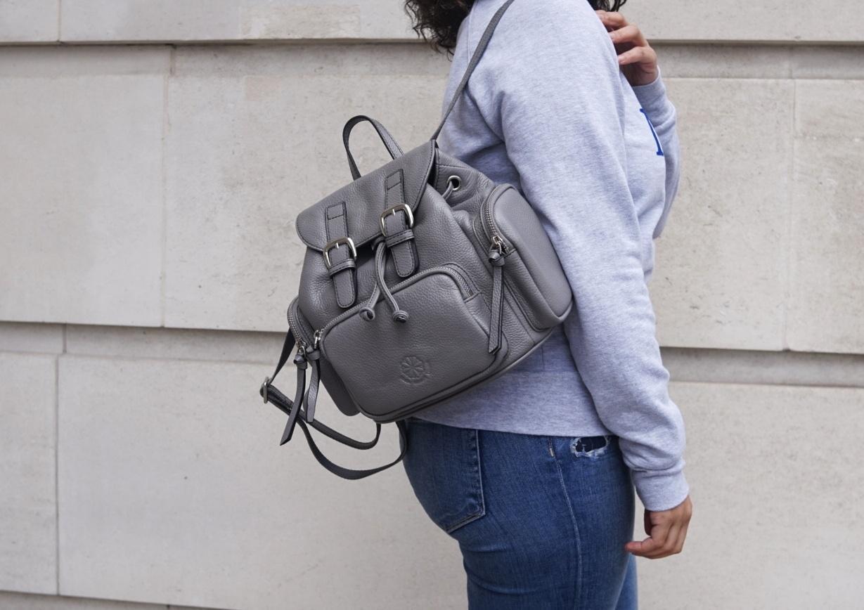 Городской серый рюкзак