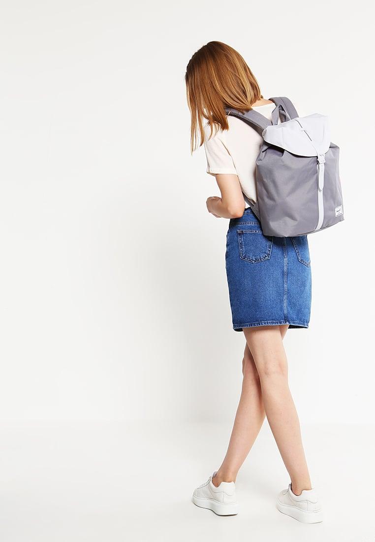 Холщевый серый рюкзак