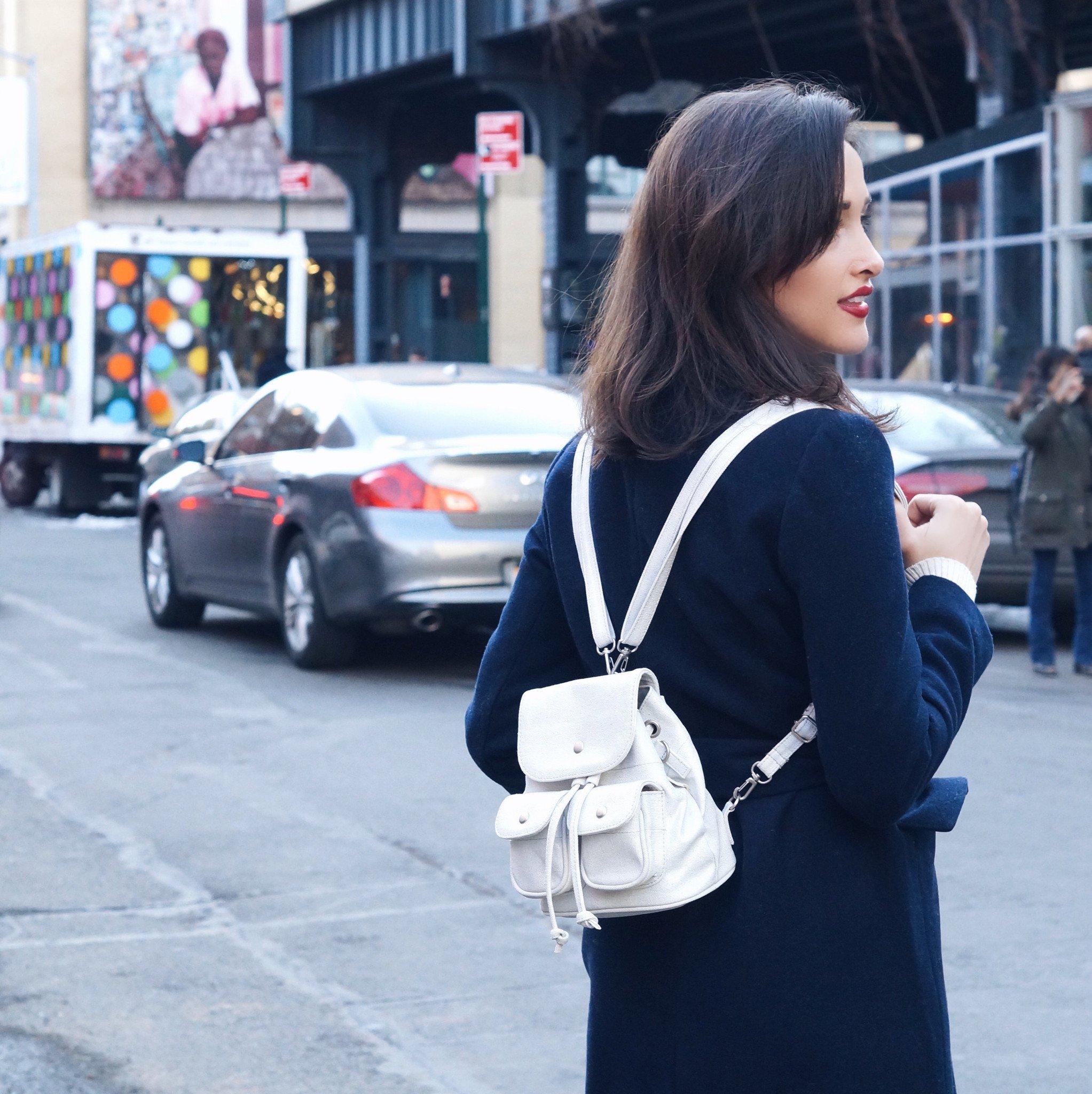 Маленький рюкзак с карманами
