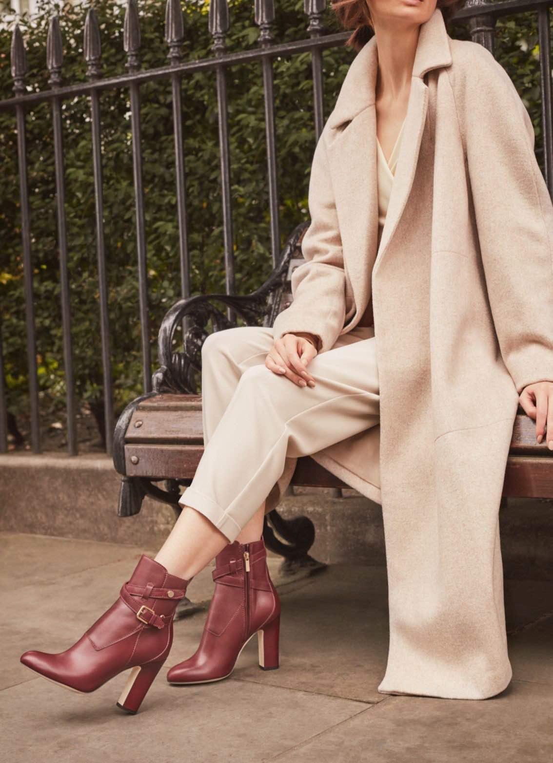 Ботинки с мехом на каблуке