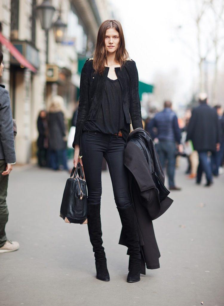 С чем носить ботфорты до колен