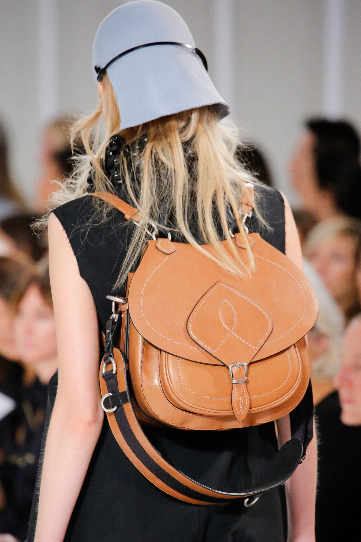 Кожаный рюкзак коньячного цвета